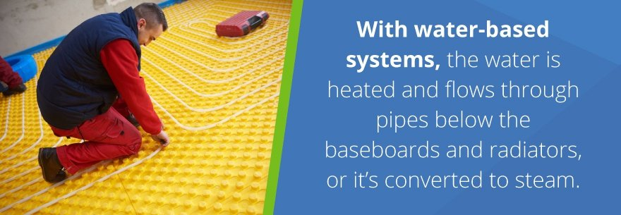 How radiant heat works with water systems.