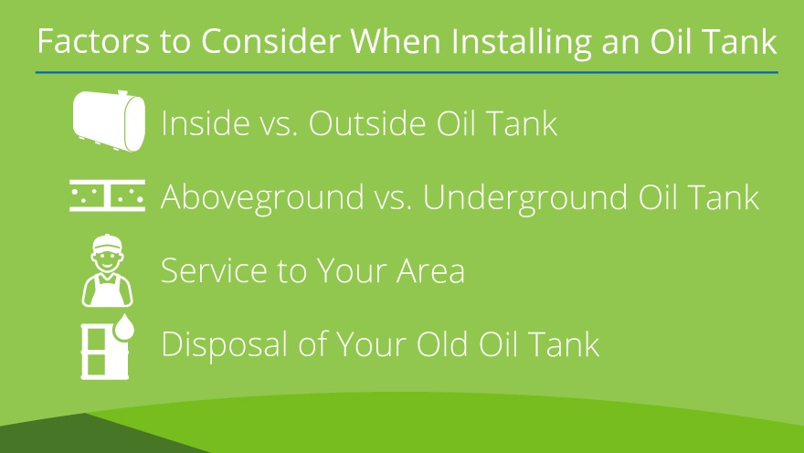 Four Factors to consider when using an oil tank.